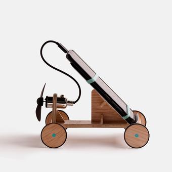juguete solidario coche con helice micro usb screen pollution, , large.