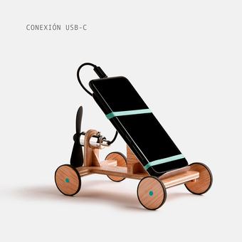 juguete solidario coche con helice usb c screen pollution, , large.