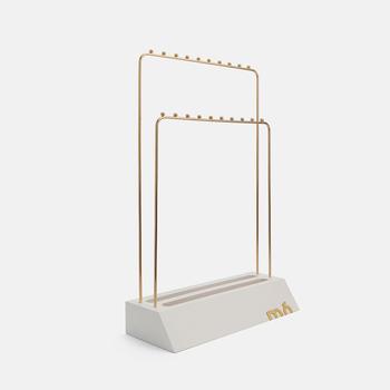 Colgador display accesorios doble blanco, , large.