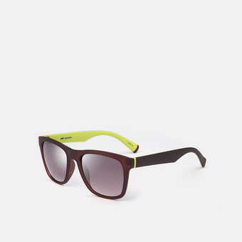 mó sun 185I B, dark brown/lime, large