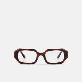 mó geek 92A, estampat vermell-negre, large
