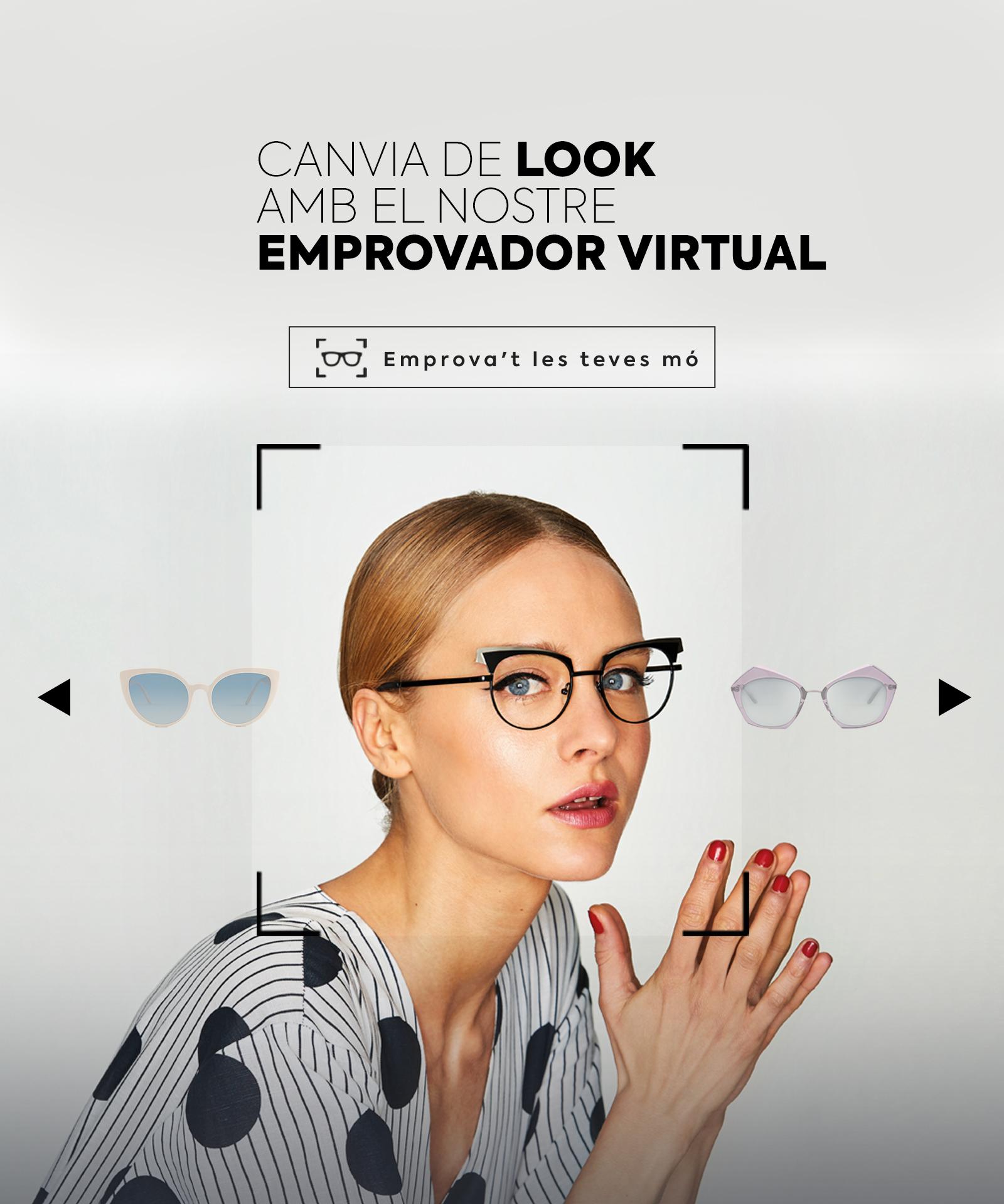 emprovador d'ulleres virtual de multiópticas