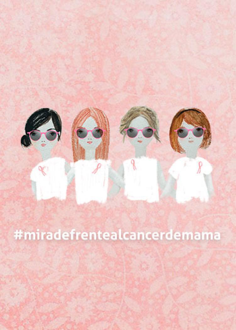 Cáncer de mama y gafas rosa