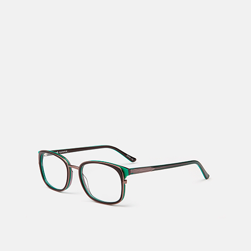 mó upper 357A A, black/green, medium