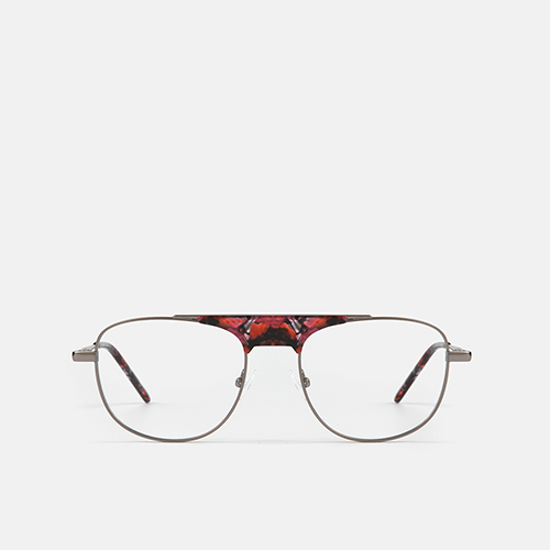 mó upper 425M A, gun metal/red, medium