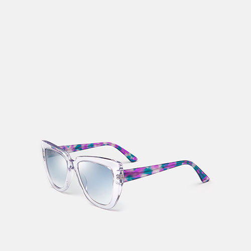 mó sun geek 55A, crystal/blue-purple, medium